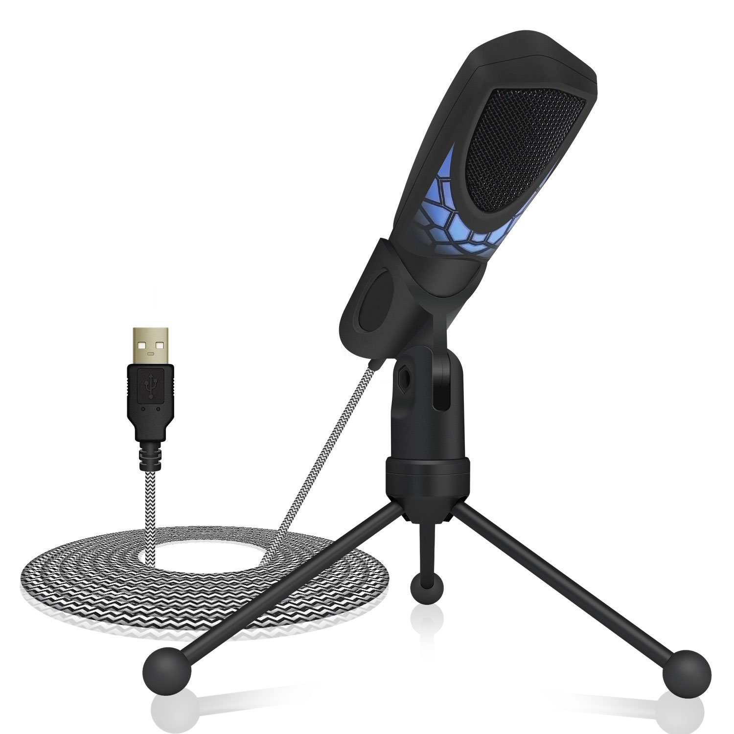 TONOR PC Microphone USB Computer Condenser Studio Mic Plug & Play with Tripod Stand & Pop Filter for Chatting/Skype/Youtube/Recording/Gaming/Podcasting for iMAC PC Laptop Desktop Windows Computer