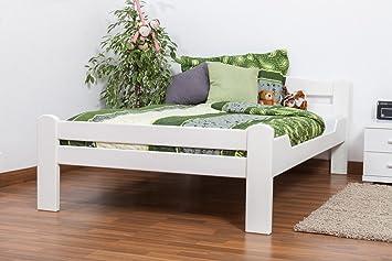 Cama 120 x 200 cm haya blanco con somier: Amazon.es ...