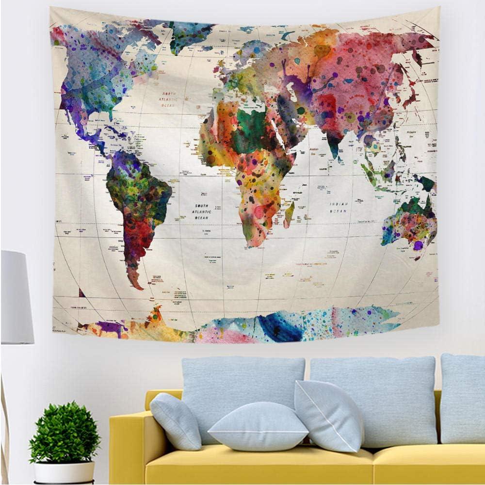 QHWLKJE Arazzo Mandala Telo Indiano Cotone Mappa Hippy Boh/émien arazzo da Parete Psichedelico,Decorazione Domestica,per Il Soggiorno o la Camera da letto150 cm x 130 cm 59x 51,2