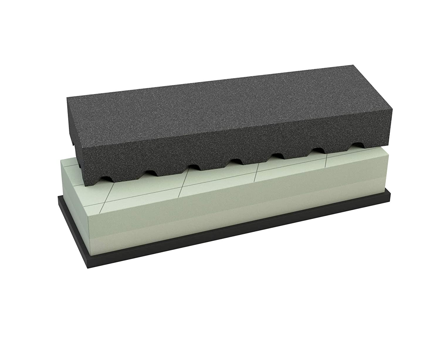 Coarse Whetstone Flattening Stone for Surface Levelling Green 10x2.5x1cm