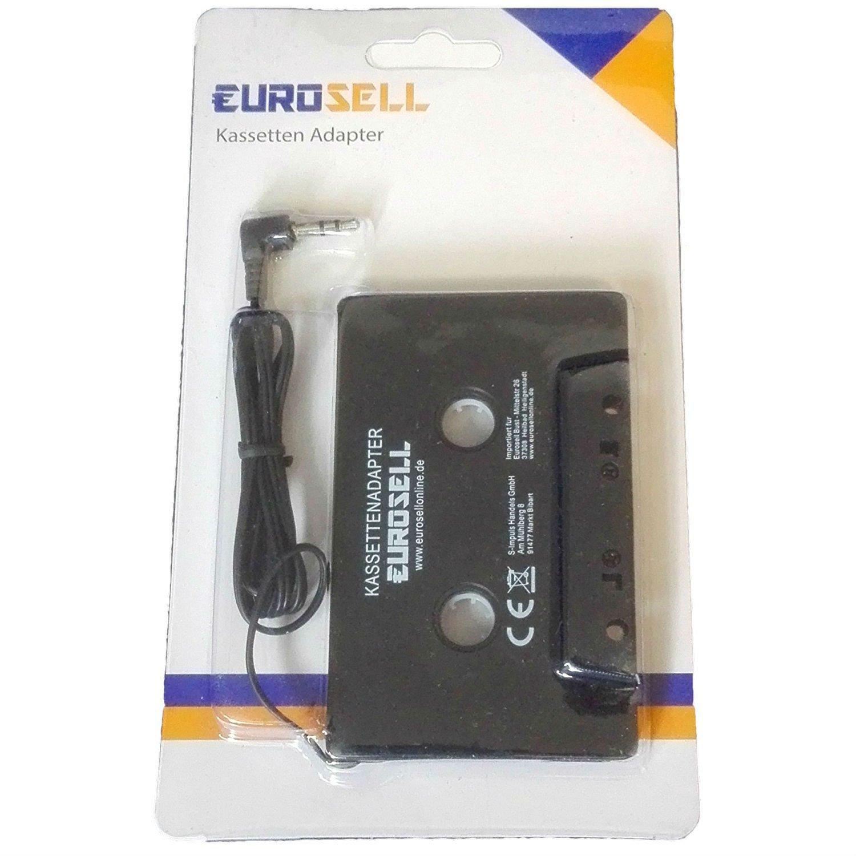 Adaptateur lecteur cassette pour voiture - Avec jack de 3,5mm - Pour téléphone portable, tablette, smartphone, iPhone, iPod, MP3
