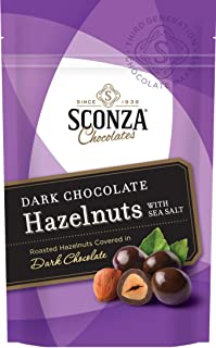 product image for Sconza, Dark Chocolate Hazelnuts with Sea Salt, 4.5 oz. Bag (3 pcs)