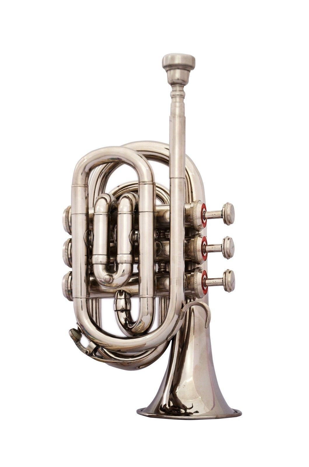 SHREYAS TRUMPET POCKET Bb NICKEL PLATED WITH BAG 7C MOUTH PIECE