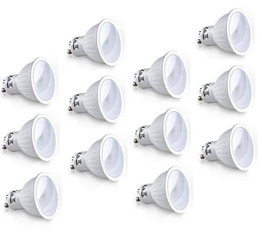 PanderLights - Juego de bombillas LED SMD GU10 7W, 560 lúmenes, luz