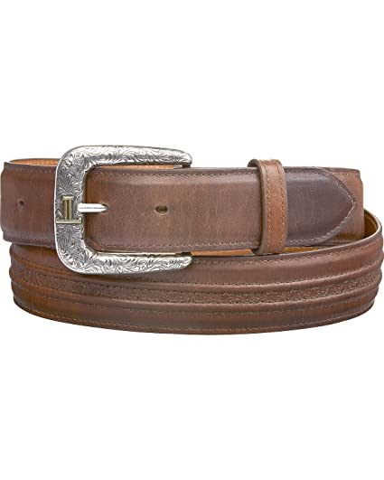 14a7f12d9 Lucchese Men's Burnished Calf Smooth Leather Belt at Amazon Men's ...