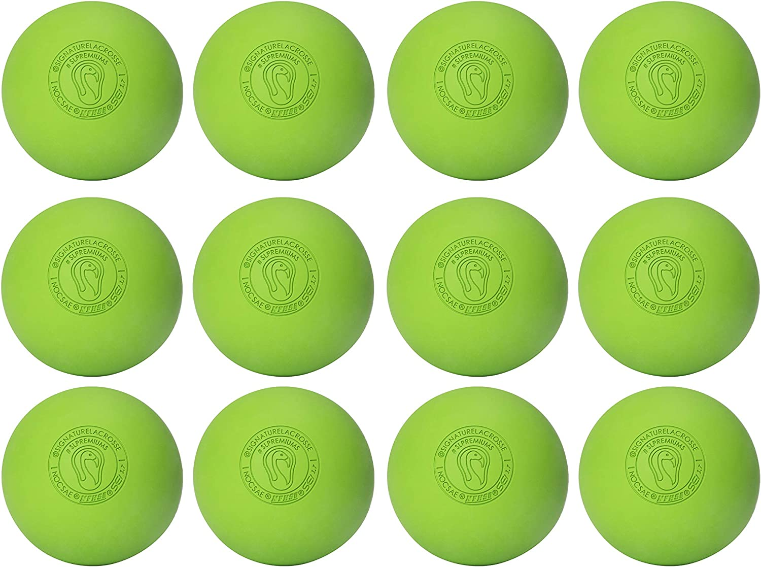 Firm Rubber -Scientifically Designed for Durability Massage Balls Myofascial Release Tools Muscle Knot Remover Back Roller Signature Lacrosse Ball Set