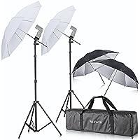 Neewer® Off Camera Double Speedlight Flash Shoe Mount Swivel Soft Umbrella Kit for Canon 430EX II, 580EX II, 600EX-RT, Nikon SB600 SB800 SB900, Youngnuo YN 560, YN 565, Neewer TT560, TT680, TT850, TT860