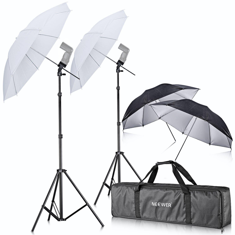 Neewer Off Camera Double Speedlight Flash ShoeMount Swivel Soft Umbrella Kit for Canon 430EX II,580EX II,600EX-RT,Nikon SB600 SB800 SB900,Yongnuo YN 560,YN 565,Neewer TT560,TT680,TT850,TT860 by Neewer