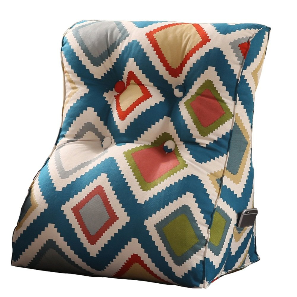 Creative Light-Kissen Cotton Canvas Canvas Canvas Sofa Dreieck Kissen   High Thickness Bett Lendenwirbel Rückenlehnen Pads   Abnehmbare Multipurpose ( größe   455526cm , stil   1 ) B07B7H8KY4 Kopfkissenbezüge f772da