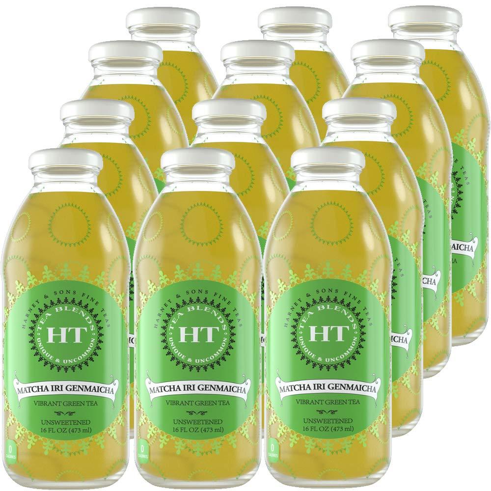 Harney & Sons Matcha iri Genmaicha Vibrant Green Iced Tea, 16 oz (Pack of 12)
