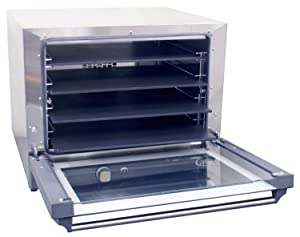 Cadco OV-023P Half Size Pizza Convection Oven with Manual Controls, 208-240-Volt/2700-Watt, Stainless/Black