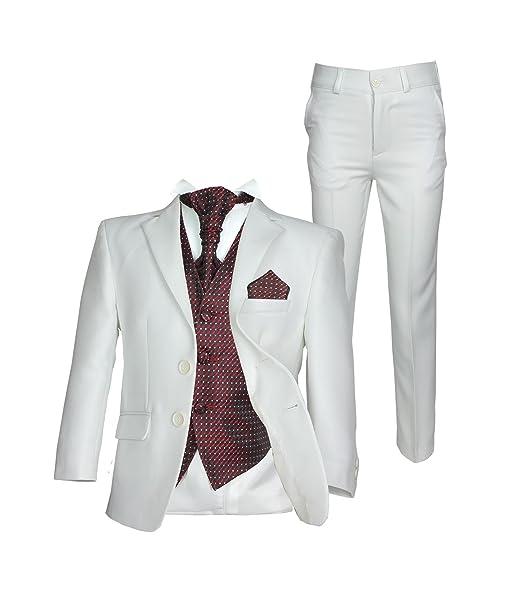 Amazon.com: Boys 5pc Cravat boda Crema Suit Kids Suits: Clothing