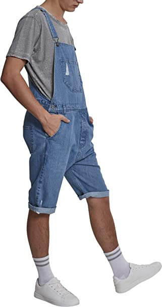 e7a07b11ae9b Urban Classics Denim Short Dungaree Petos para Hombre