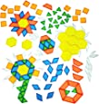Constructive Playthings EDX-147 Cp Toys Translucent Pattern Blocks / 147 Piece Set