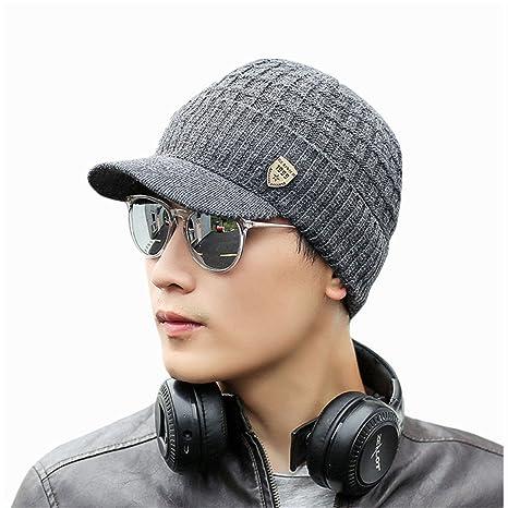 Bluestercool Berretto Invernale Uomo Con Visiera Cappelli Uomo Cotone  Eleganti  Amazon.it  Sport e tempo libero 6ca090207623
