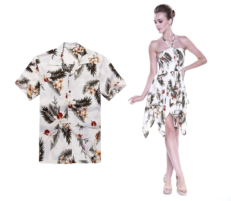 Pareja coincidente Hawaiana Luau Aloha Camisa Gitana Vestido ...