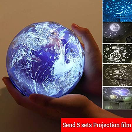 Power uk ☻XK Lámpara de proyector de luz Nocturna giratoria ...