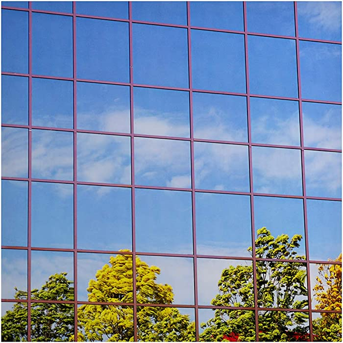Buydecorativefilm BDF S15 Window Film One Way Mirror Silver 15 (Dark) - 36in X 24ft