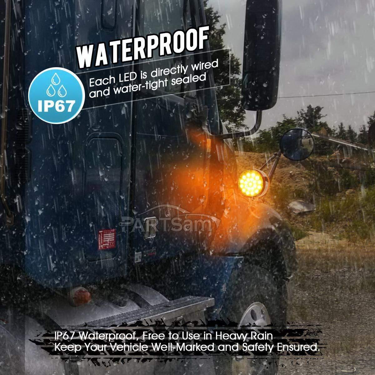 Amazon com: Partsam 5X 17LED Amber Torpedo Cab Marker