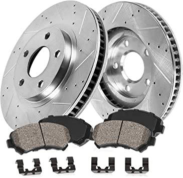 Rotors Metallic Pads F 2009 2010 2011 2012 Chevy Colorado OE Replacement