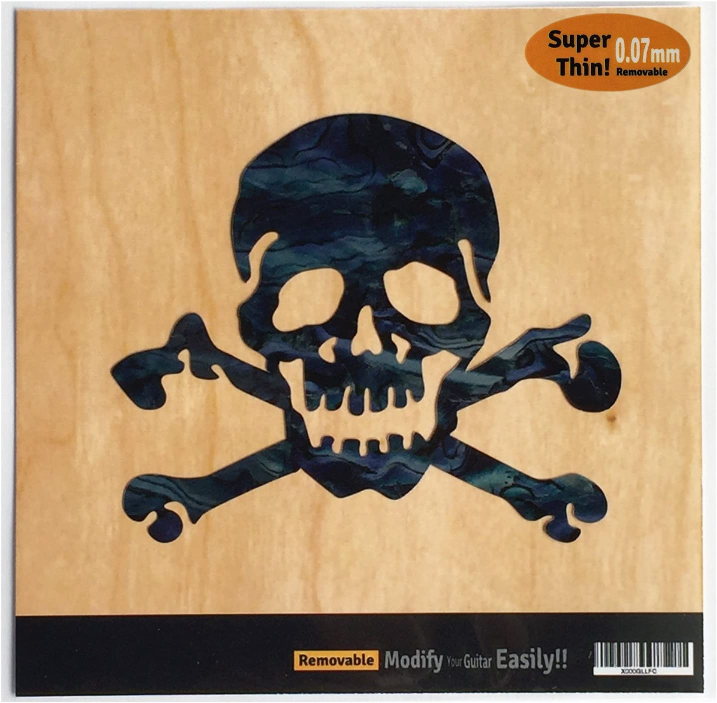 Pirate Skull Inlay Sticker Decal For Guitar /& Bass