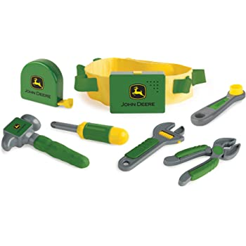 TOMY John Deere Deluxe Talking Toolbelt   Perfect for Toddler Fixer Uppers