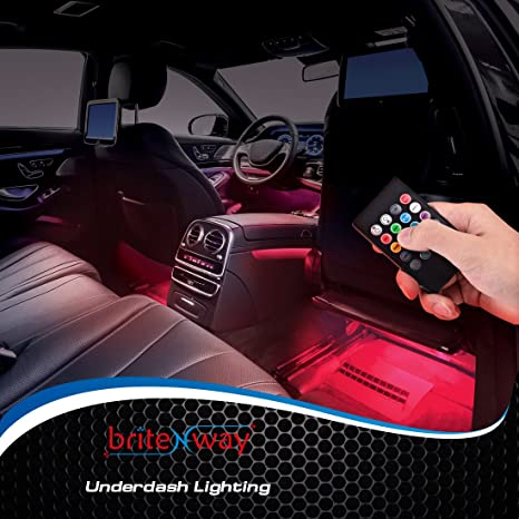 Charming BriteNway Car Interior Lights Gadget   7 Colors And Multiple Pattern For  Front U0026 Back Underdash