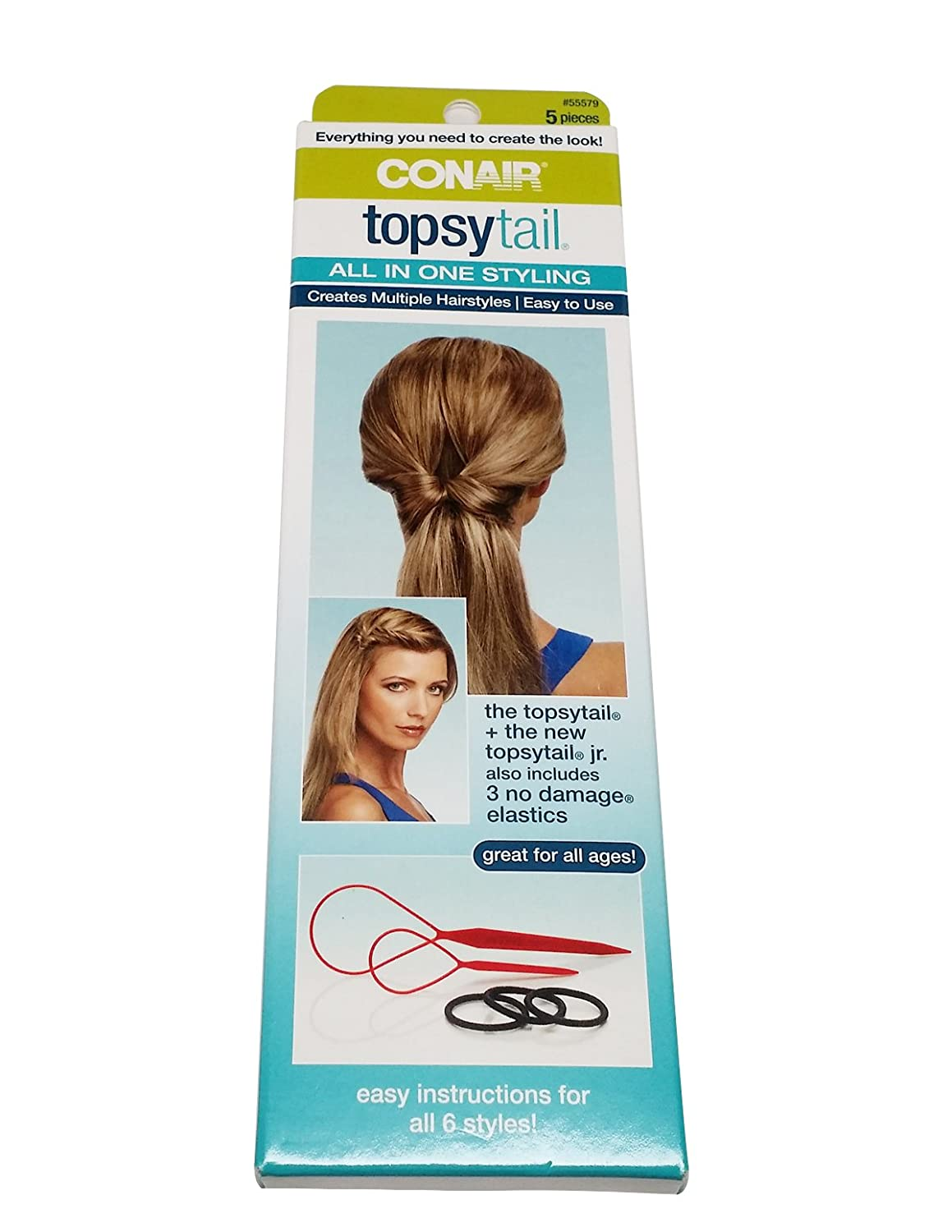 Conair Topsytail All in One Styling Kit, 3-Pack Conair Brush Corpora