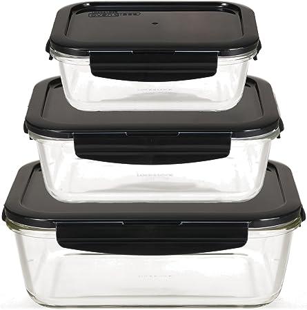 Set di 2/contenitori salvafreschezza rettangolari con coperchio rosso da 1,4/l/ /BPA Free.