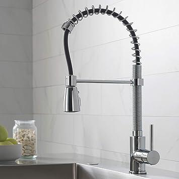 kraus kpf 1612 single lever pull down kitchen faucet chrome touch rh amazon com