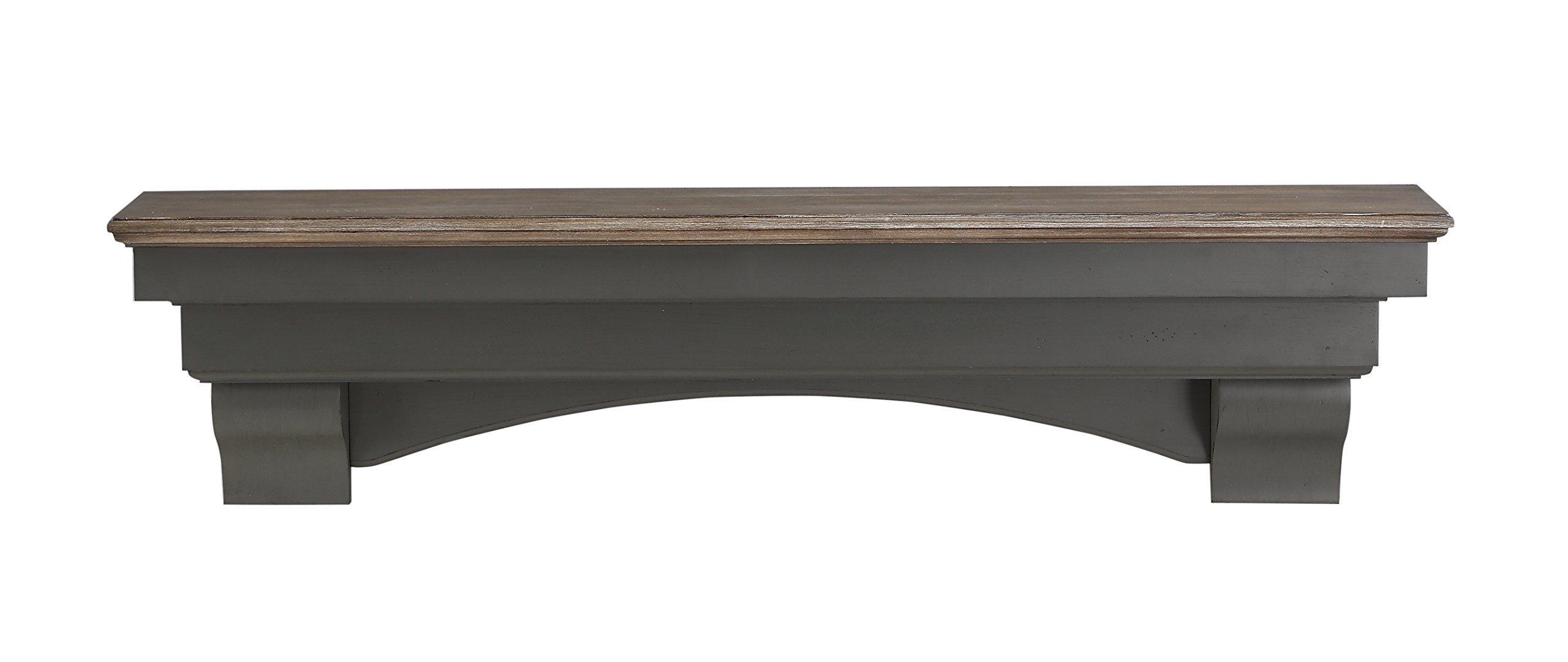 Pearl Mantels 499-72-27 Hadley Mantel Shelf, 72-Inch, Cottage Distressed by Pearl Mantels