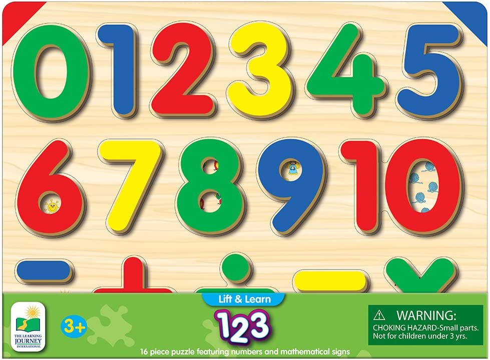 Kids Child Wooden Numbers Mathematics Early Learning Counting Educational VT