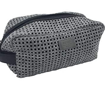 19be4f2b17 Image Unavailable. Image not available for. Color: Hugo Boss Men's Grey  Beauty Toiletry Bag Travel ...