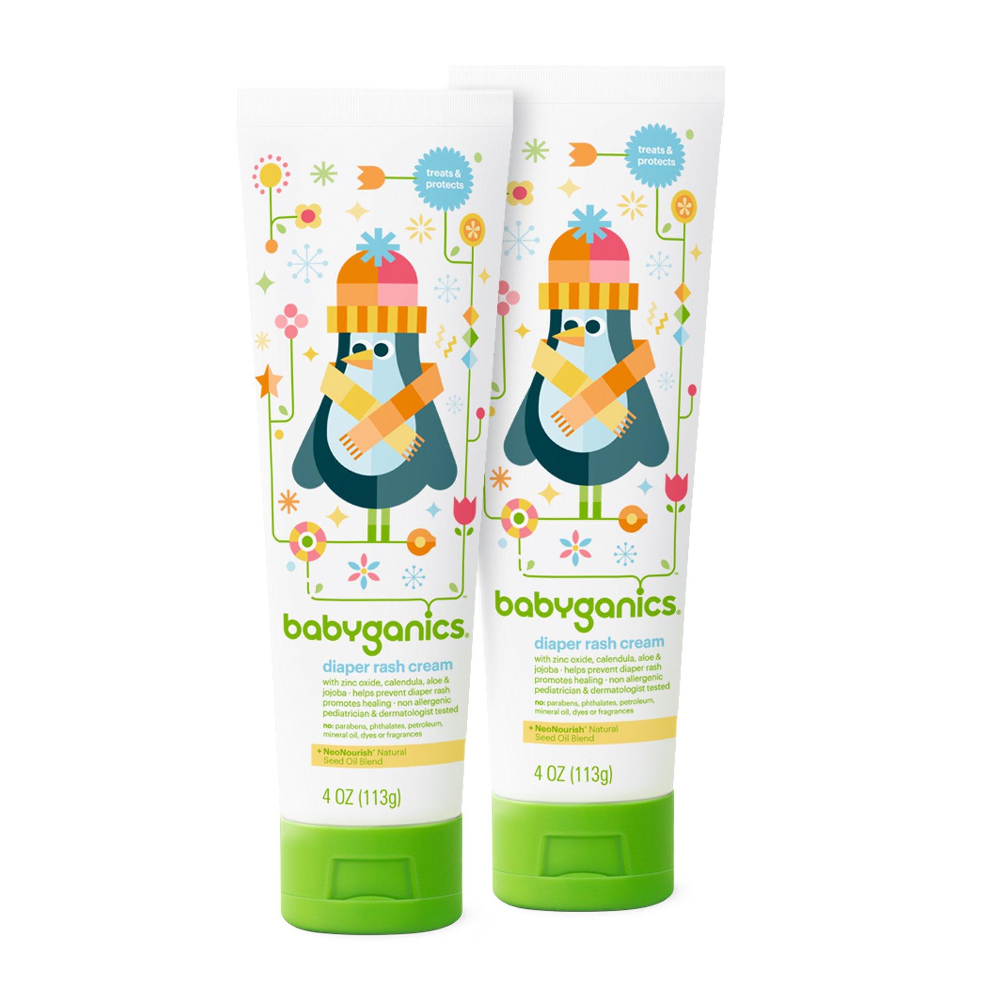 Babyganics Diaper Rash Cream, 4oz Tube (Pack of 2) by Babyganics