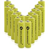 GEILIENERGY Solar Light AA Ni-CD 600mAh 1.2V Rechargeable Batteries AA Rechargeable Batteries for Solar Lights Solar…