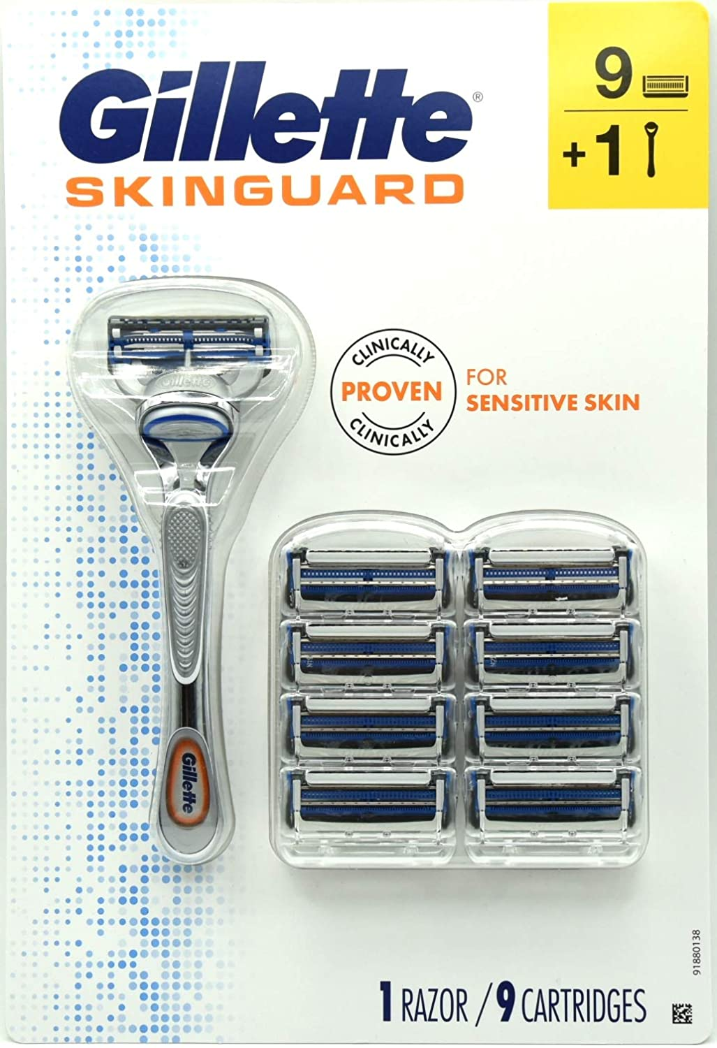 Skinguard 1 Razor Handle and 9 Cartridge Refills