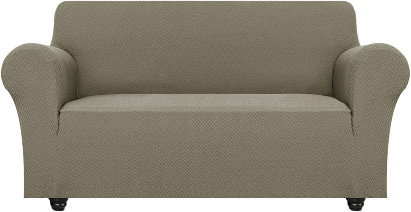 OBYTEX Stretch Recliner Cover Soft and Comfortable Upgrade Pattern Couch Covers Dog Cat Pet Slipcovers Furniture Protectors Navy, Recliner