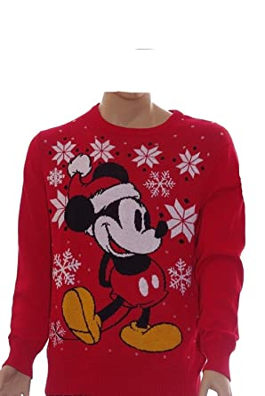 mickey mouse mens red ugly christmas sweater x large x large - Mickey Mouse Christmas Sweater
