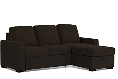 Amazon.com: Westport Home Sienna Convertible Sofa, Java ...