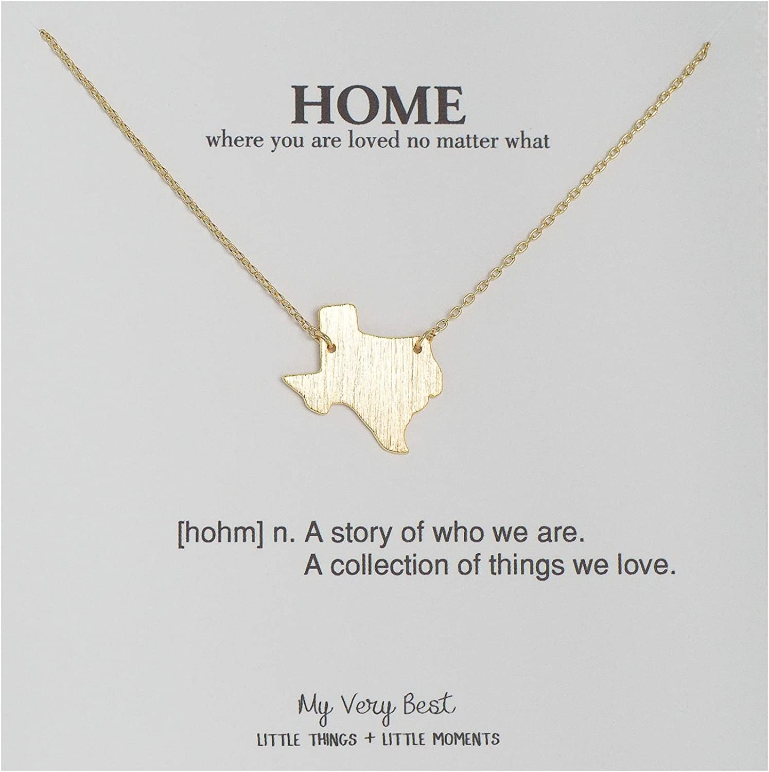 My Very Best State Map Necklace