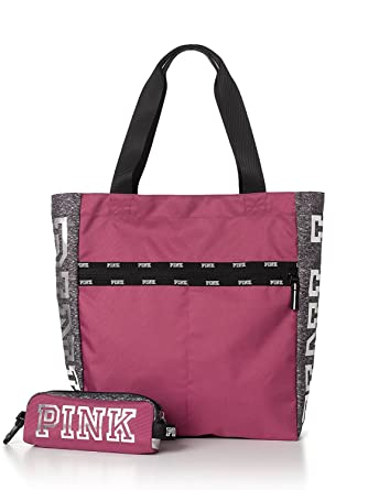 18b2decd8b04 Amazon.com  Victoria s Secret PINK Tote Bag + Tech Pouch Bayberry  Clothing