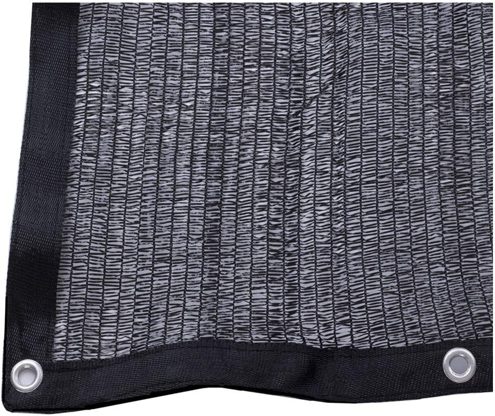 50 10ft x 20ft Black Sunblock Shade Cloth with Grommets for Plant Cover Greenhouse,Barn,Kennel, Pool, Pergola or Carport