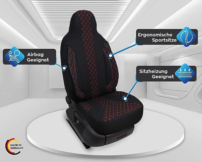 Maß Sitzbezüge Kompatibel Mit Skoda Karoq Fahrer Beifahrer Ab 2017 Farbnummer Pl402 Auto