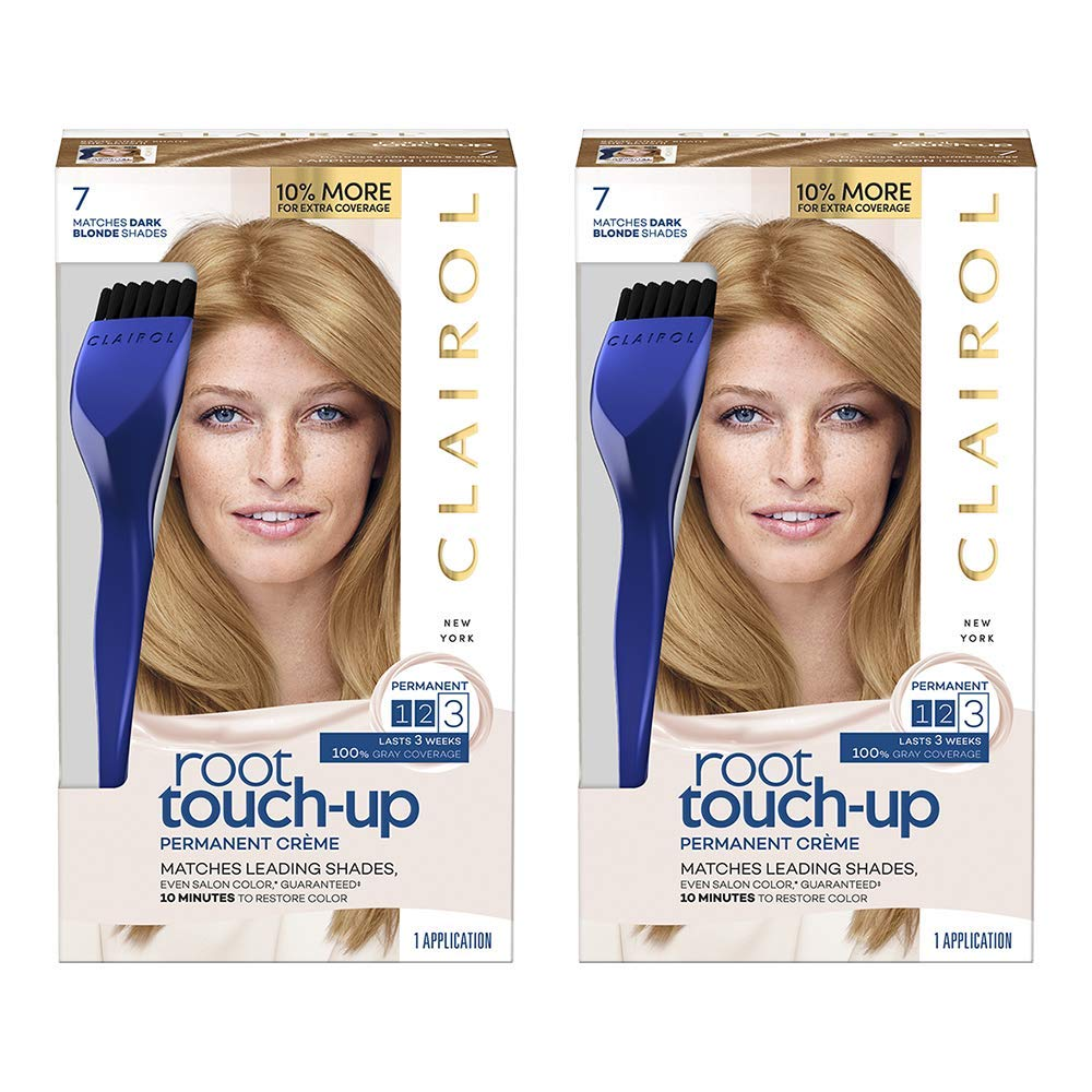 Clairol Nice \'n Easy Root Touch-Up 7 Kit (Pack of 2), Matches Dark Blonde  Shades of Hair Coloring, Includes...