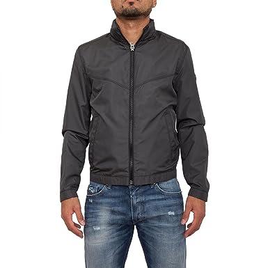BOSS Casual Herren Jacke Ombay 10196223, Schwarz (Black 01), Large  (Herstellergröße