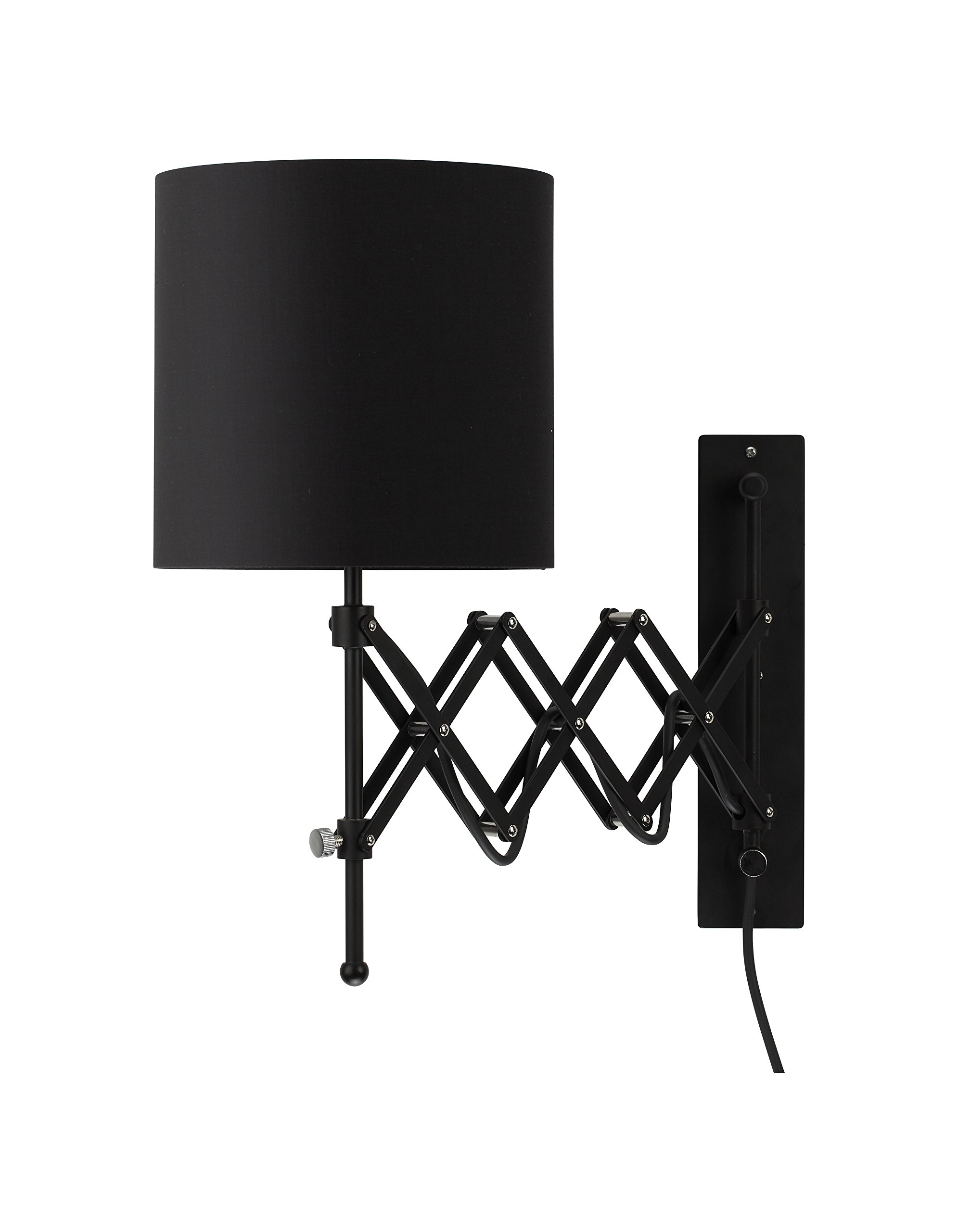 Modernluci Wall Sconce LED Wall Light Modern Plug in Bedroom Lamp Black - Knockdown design - which would make sure the lampshade arrives in a good shape and reduce packaging for environment-friendly. Easy Installation - just two screws and plug in the cord, switch the toggle, light up your room with ease. Energy Saving - Our LED light fixture comes with E26 Edison LED bulb which is long lasting and energy saving. - lamps, bedroom-decor, bedroom - 71Dh3xpKXIL -