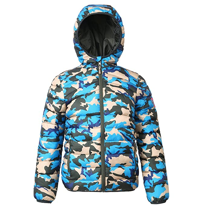 buy popular best cheap Clearance sale Rokka&Rolla Boys' Lightweight Reversible Water Resistant Hooded Quilted  Poly Padded Puffer Jacket
