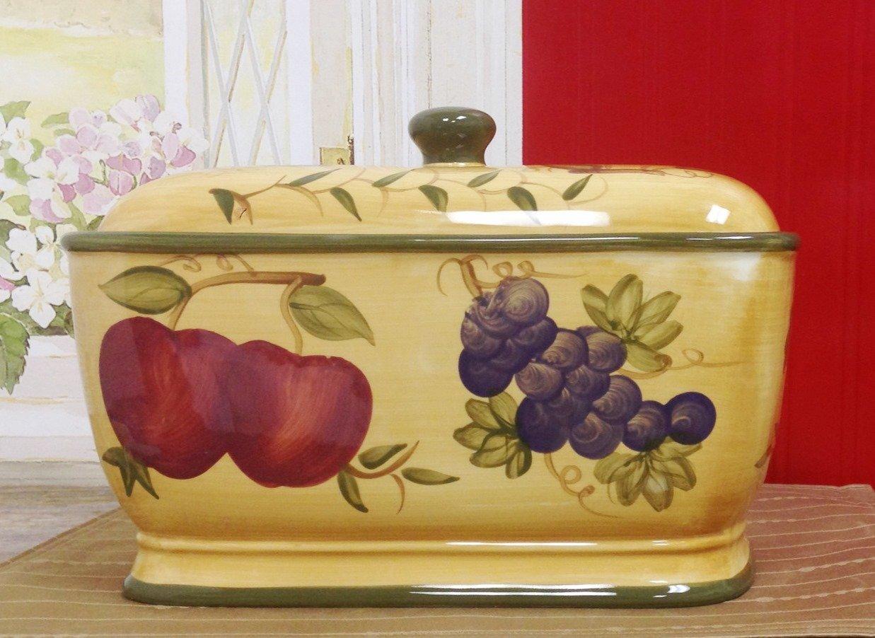 Tuscany Mixed Fruit Ceramic Bread Box