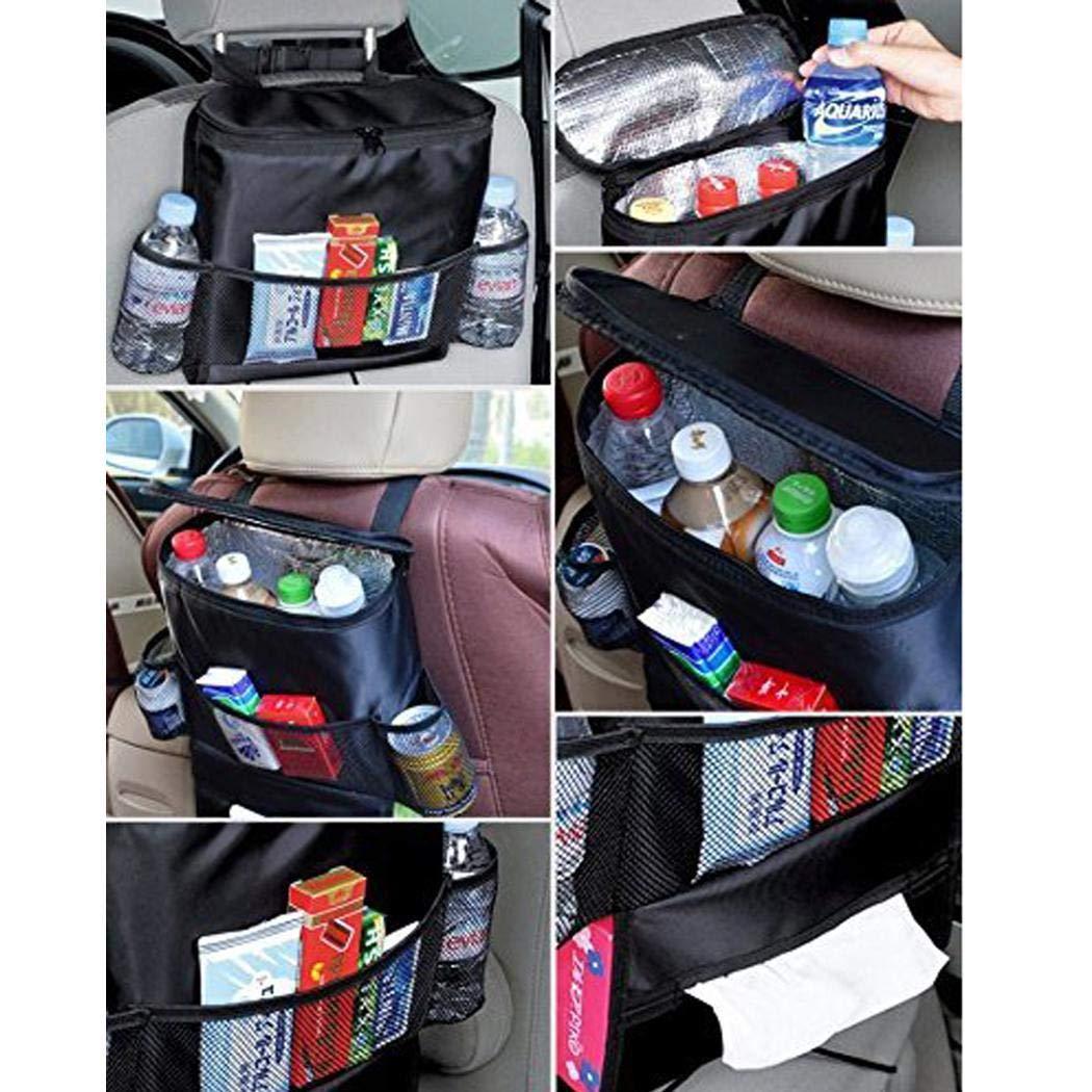 Sliwei Autositz zur/ück Multi-Pocket Ice Pack Isolation Bag h/ängenden Veranstalter Collector Storage 11,8 x 15,7 x 3 Zoll