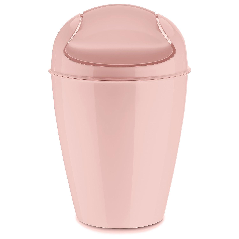 Koziol Swing-Top Wastebasket, thermoplastic, Powder Pink: Amazon.co ...